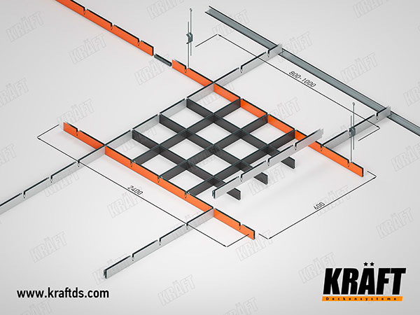 Self-assembly of KRAFT grilyato false ceiling