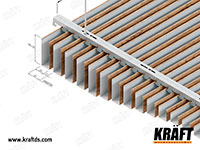 Cubic ceiling rail KRAFT, dimensions and module