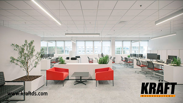 Selection of KRAFT Nova and KRAFT Fortis suspended ceilings by price