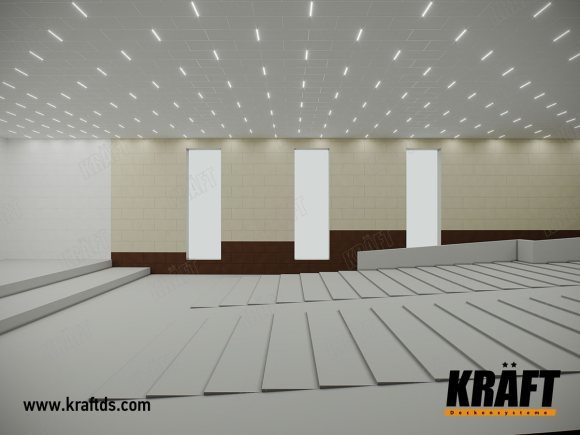 Assembly hall of the House of Trade Unions, Kiev (T-profile KRAFT Fortis, KRAFT Led lamps)