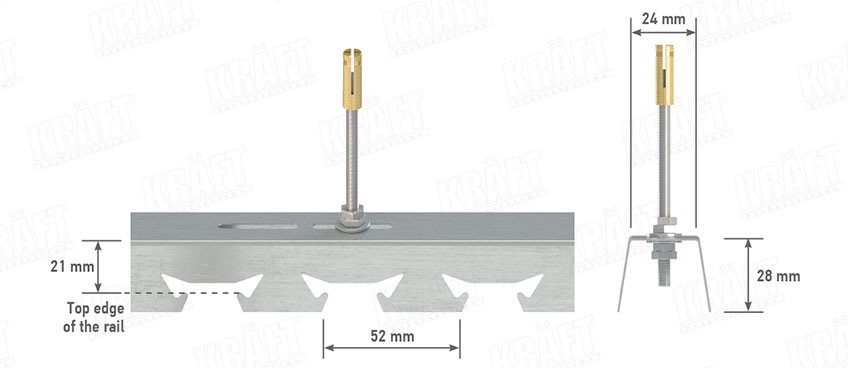 Traverse (stringer) for rack suspended ceilings KRAFT