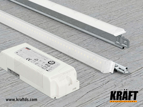 Lighting system for false ceilings KRAFT Led