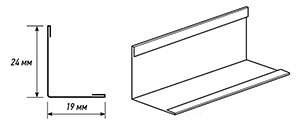 Wall profile for suspended ceilings KRAFT
