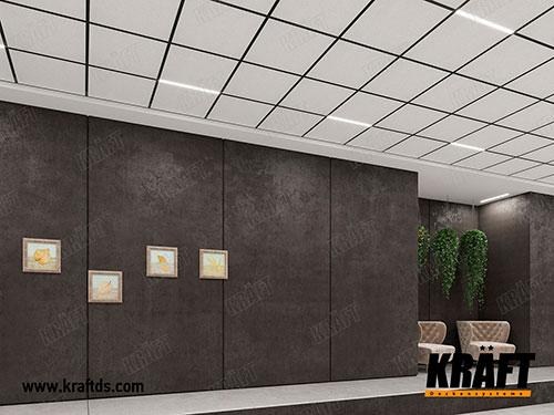 Suspended ceiling based on the KRAFT Fortis T-profile